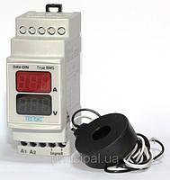 Мультиметр вольтметр амперметр особо точный DIN рейку дин цифровой щитовой цена электронный шкаф TENSE, фото 1