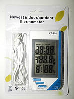 Термометр Гигрометр Часы выносной датчик КТ-908
