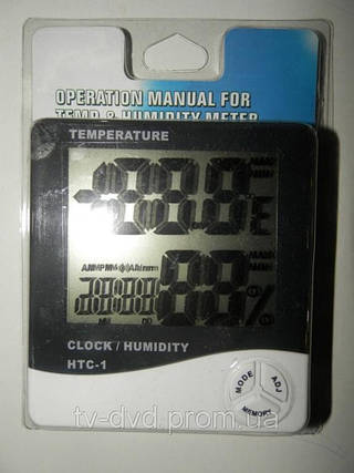 Цифровой Термометр Гигрометр часы будильник HTC-1