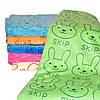 """Уголок для купания. """"Зайка попрыгайка"""". Полотенце для купания. Детское полотенце, микрофибра, фото 3"""