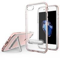 Чехол Spigen для iPhone 7 Crystal Hybrid, Rose Gold, фото 1