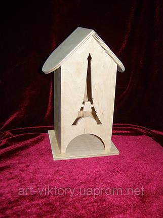 Коробка для хранения чайных пакетиков Эйфелева башня (10 х 10 х 23 см), фото 2