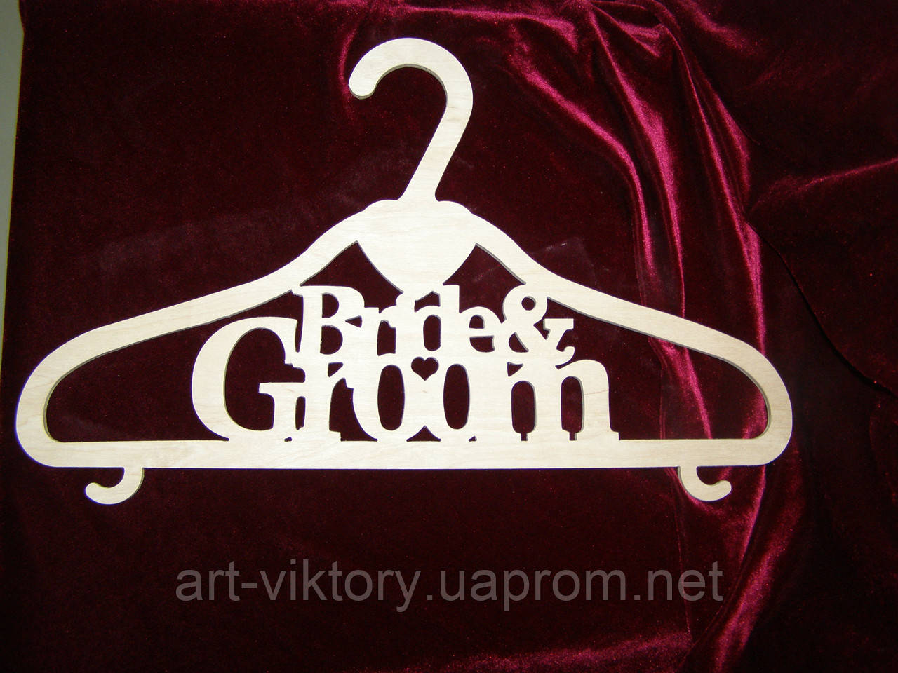 Вішалка Bride & Groom (41,5 х 24 см), декор