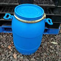 Бочка 40 литров б/у пластиковая со съемной крышкой