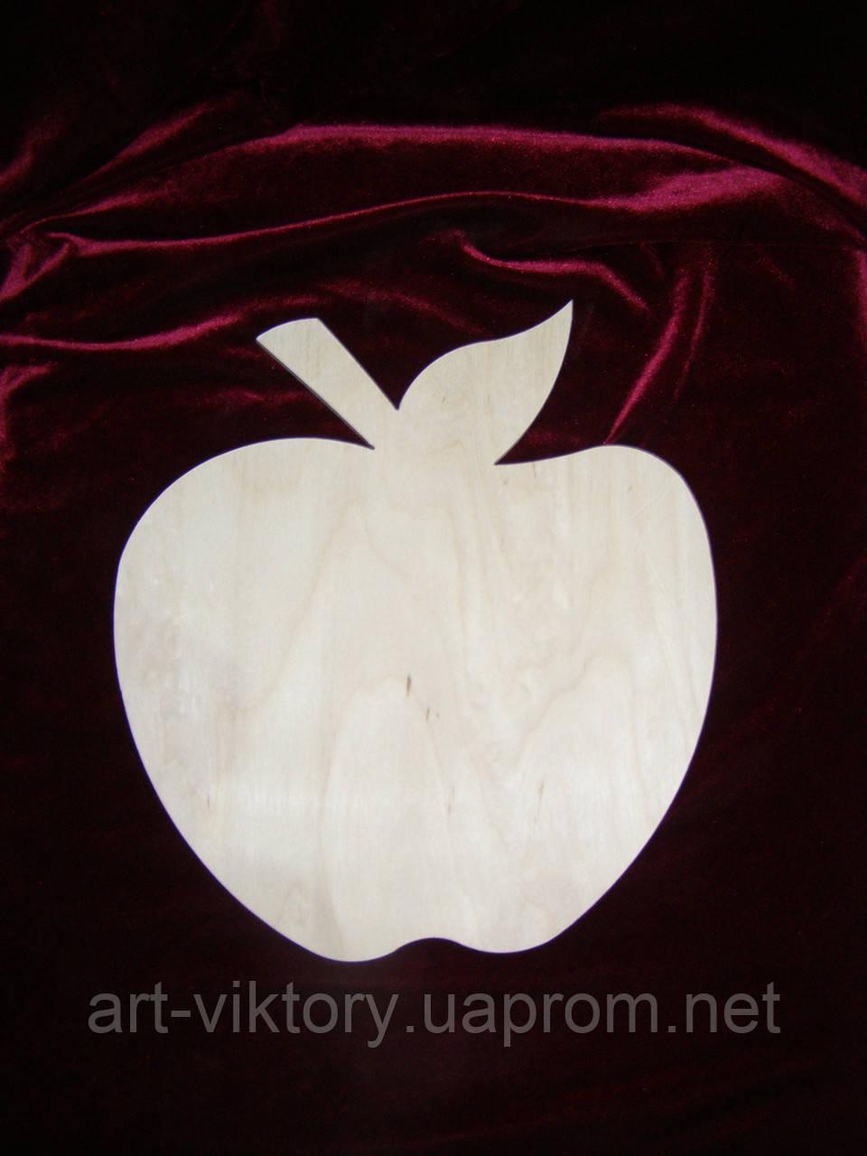 Заготовка - трафарет яблоко