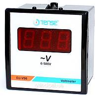 Вольтметр электронный TENSE щитовой 96х96 мм цена цифровой переменного тока шкаф