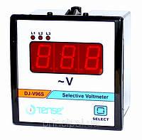 Вольтметр трехфазный электронный TENSE щитовой 96х96 мм цена цифровой переменного тока шкаф