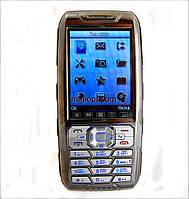 Телефон DONOD D908. Хром. 2SIM, TV,  FM.