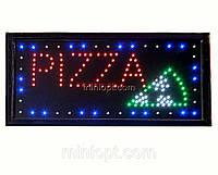 Вывеска светодиодная `Pizza`. 48x25 см