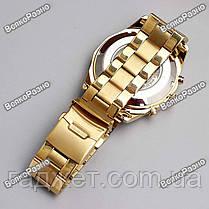 Мужские механические часы Winner Timi Skeleton Automatic Sport в золотистом цвете., фото 3