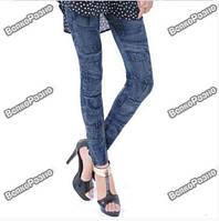 Женские джинсы-лосины