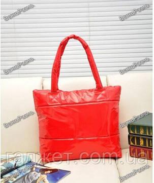 Женская нейлоновая сумка красного цвета, фото 2