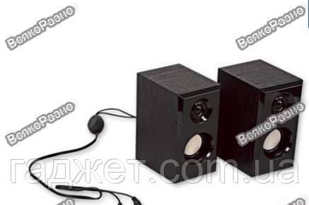 Колонки для ПК компьютера black HD-0275