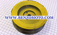 """Шкив (D=122мм, шлиц Z=19) привода коробки передач бензинового мотоблока с ременной передачей, тип """" GN-4"""