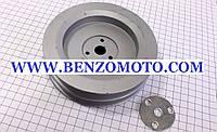 """Шкив (D=140мм, шлиц Z=19) привода коробки передач бензинового мотоблока с ременной передачей, тип """" GN-4"""