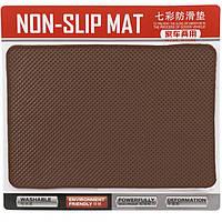 Авто коврик на панель коричневый 135x190mm