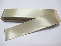 Стрічка атласна  двостороння 3 см ( 10 метрів) сіро-бежева пастельна Н-03-007