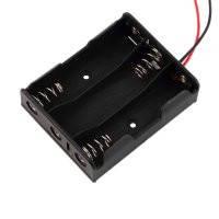 "Корпус для трёх батареек типа ""АА"", 46х58мм, с проводами"