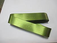 Стрічка атласна  двостороння 3 см ( 10 метрів) оливковий світлий Н-03-073
