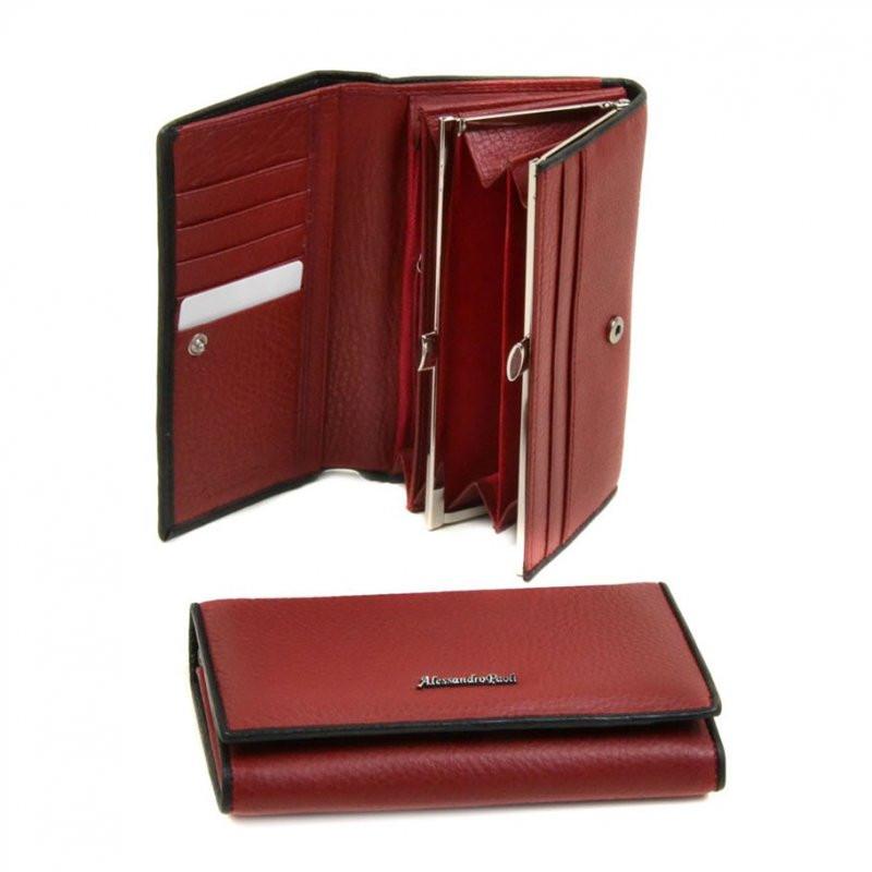 d23974d665a3 Красный кошелек кожаный с черным кантиком: продажа, цена в Днепре ...