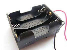 "Корпус для шести батареек типа ""АА"", 29х48х58мм, с проводами"