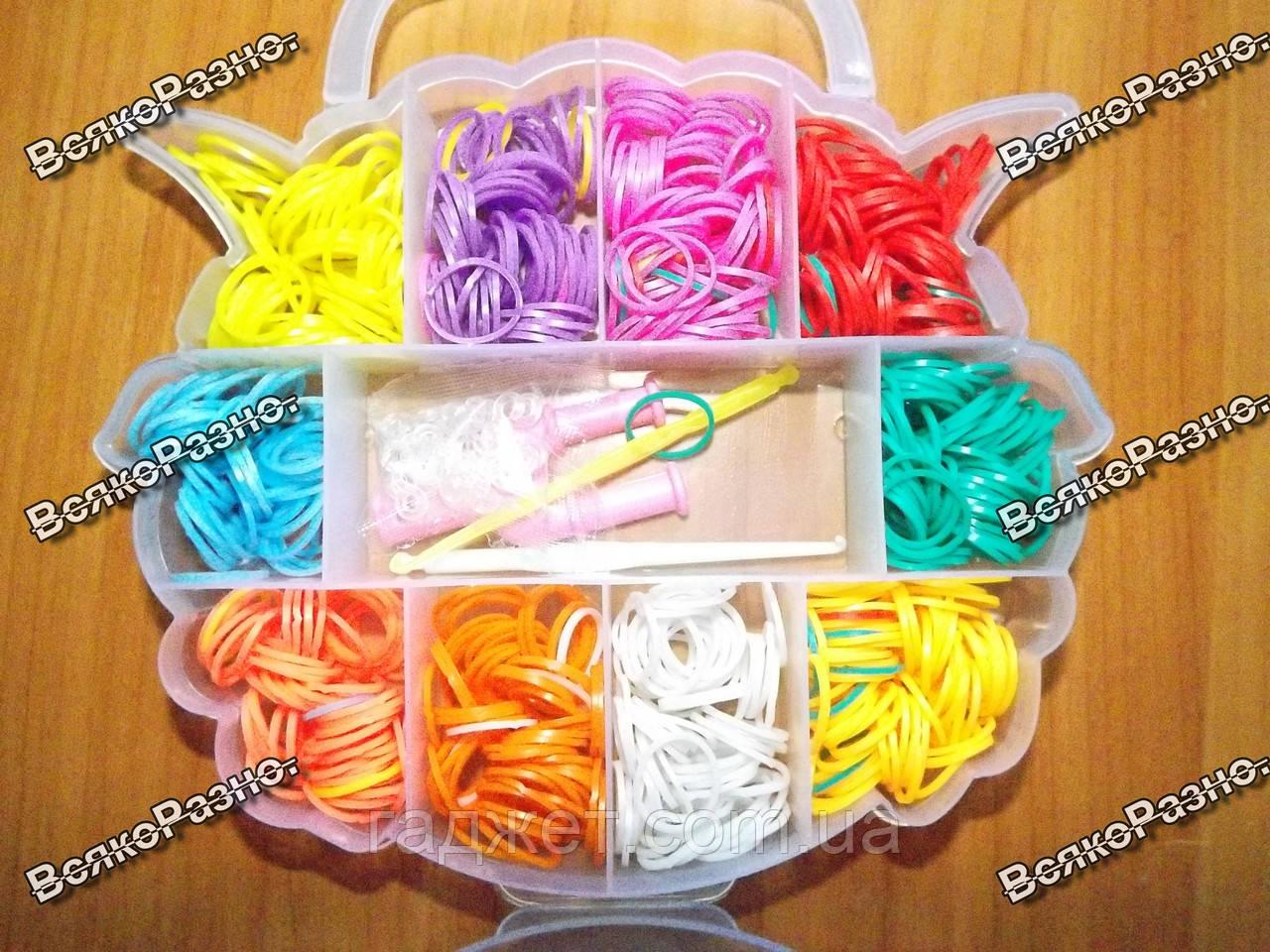 Набор Loom Bands резинок для плетения браслетов 550 шт