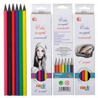Карандаши цветные 6 цветов 555-6