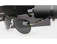 Мужские солнцезащитные очки Montblanc 374 черный с золотом