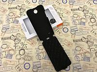 Кожаный чехол флип Melkco для HTC Desire 300 чёрный