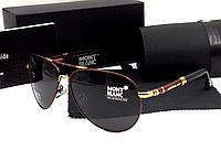 Мужские солнцезащитные очки Montblanc 374 цвет медный