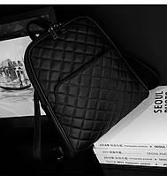 Рюкзак кожаный стеганый с карманом