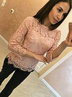 Гипюровая блузка Цвета 7769 КК, фото 1