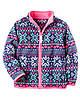 Флисовый пуловер на молнии для девочки 2, 3, 4 года Carter's (США)