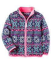 Флисовый пуловер на молнии для девочки 2 года Carter's (США)