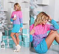 Вязаное платье-туника в расцветках 408 (014)