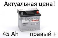 Аккумулятор Bosch S3 45 Ah 0092S30020 Пусковой ток 400 A, Правый +, Размеры на картинке