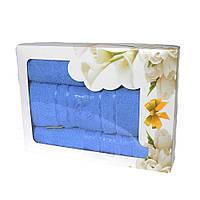 Комплект из 3-х махровых полотенец в подарочной упаковке