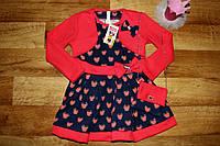 Нарядное платье на девочку,красное +сумочка