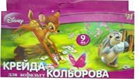 """Набор """"Мел цветной большой"""" """"1 Вересня"""" 9штук №400074"""