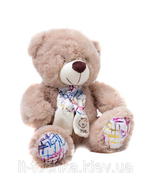 Мягкая игрушка мишка с шарфом 4104 30 см - it-точка - магазин удобных покупок для дома и работы в Киеве