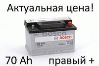 Аккумулятор Bosch S3 70 Ah 0092S30070 Пусковой ток 640 A, Правый +, Размеры на картинке