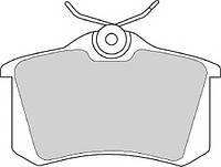 Тормозные колодки SEAT EXEO (3R2) 12/2008 - , SEAT EXEO ST (3R5) 06/2009- диск. задн., Q-TOP (Испания) QE2702E