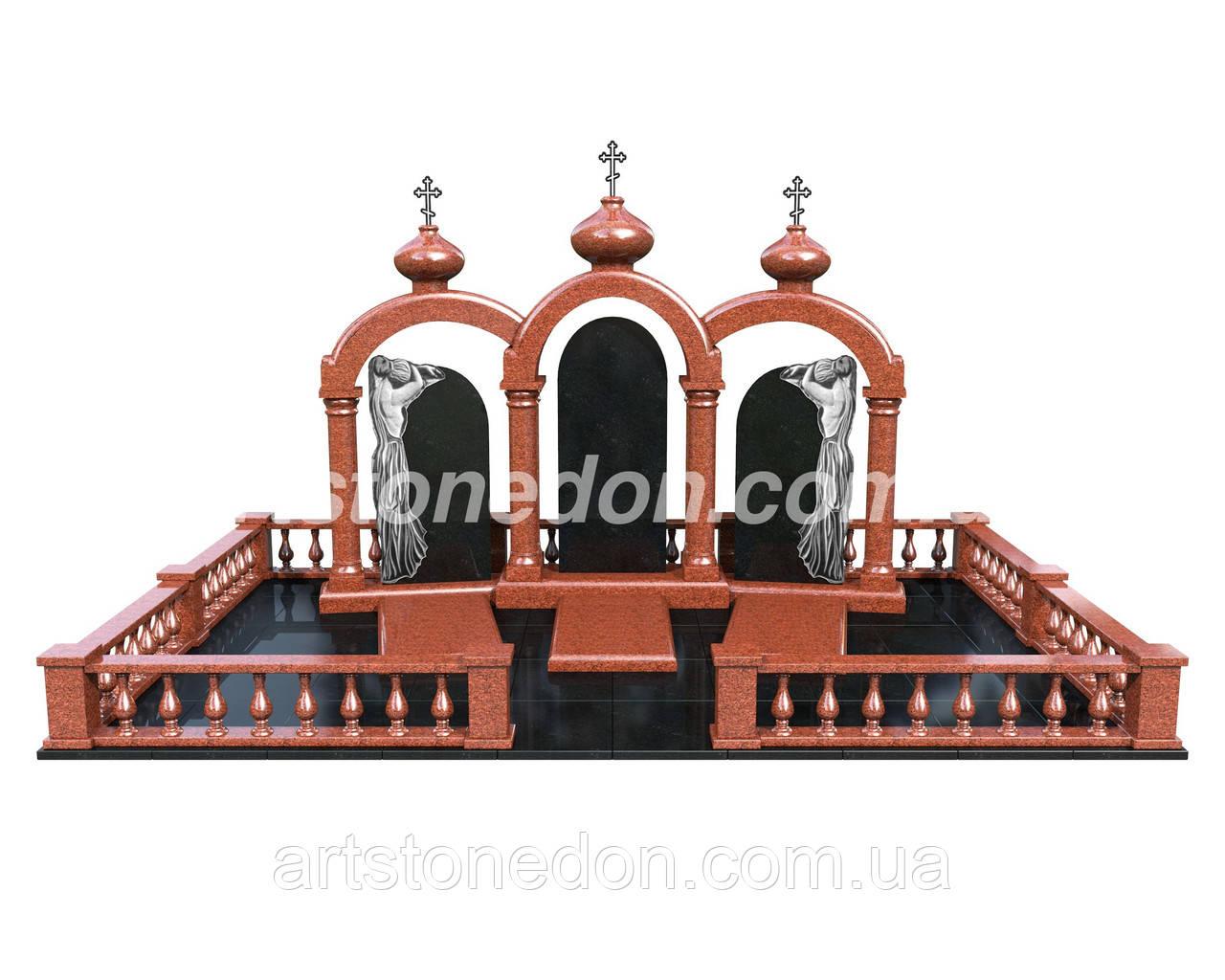 Проект памятника с колоннами 3D №913