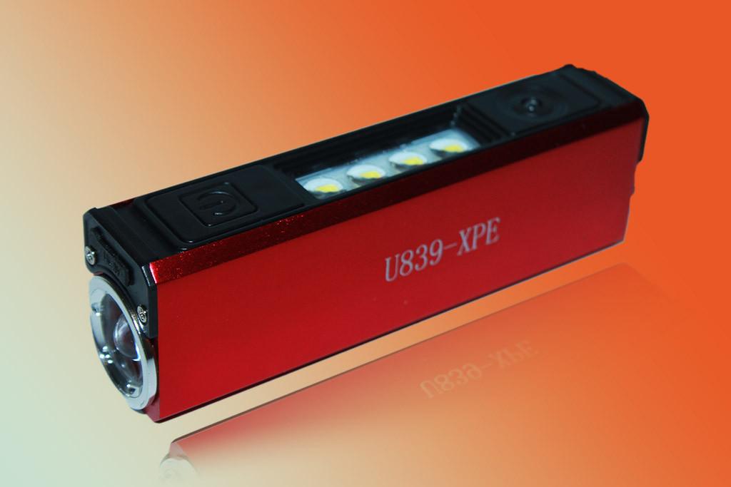 Фонарь Police U839-XPE+4SMD, USB, Power Bank