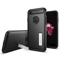 Чехол Spigen для iPhone 7 Slim Armor, Black, фото 1