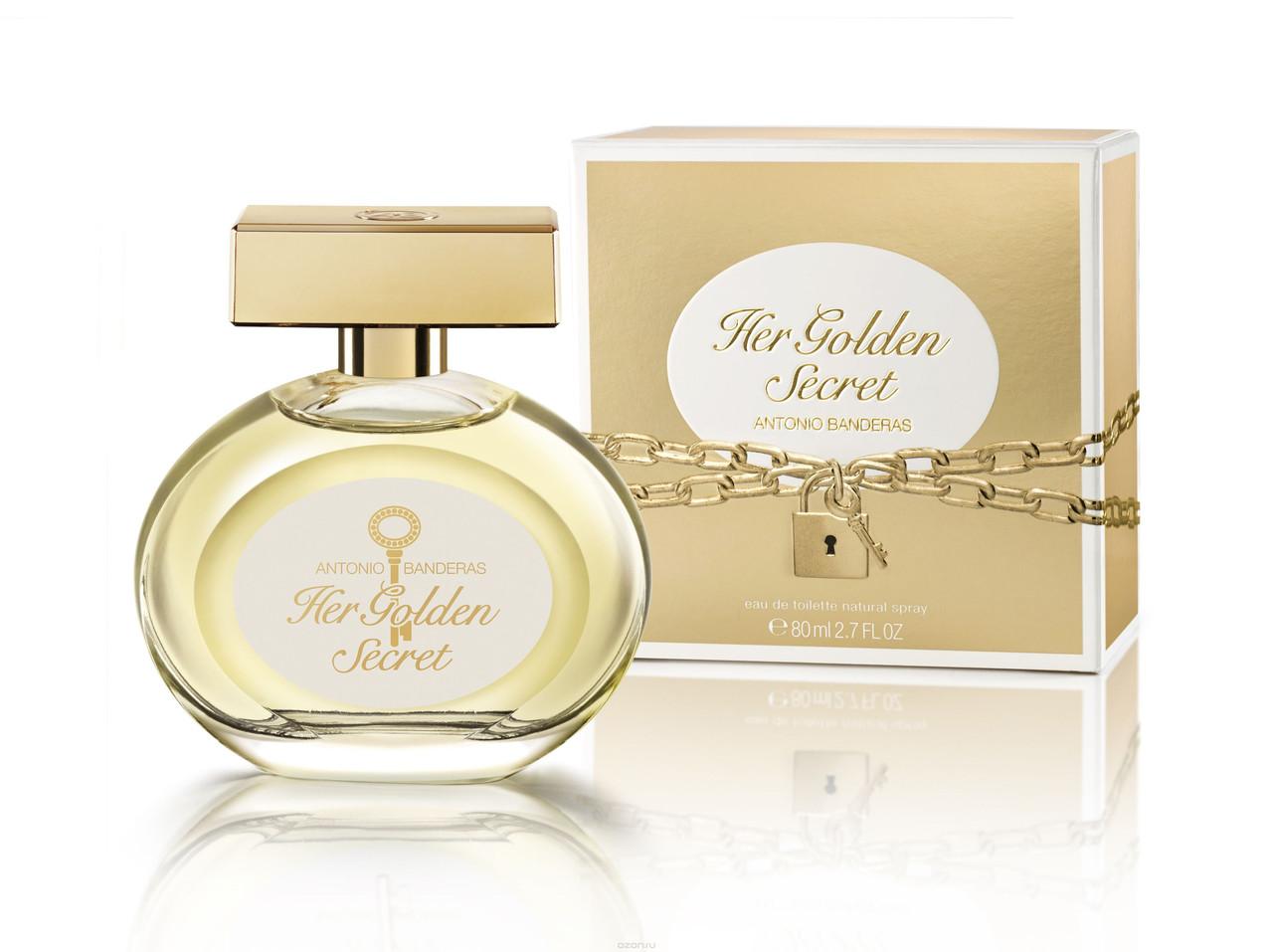 Жіноча туалетна вода Antonio Banderas Her Golden Secret (Антоніо Бандерас Хе Голден Сікрет) 80 мл