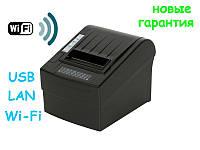 Wi-FI + USB Термо принтеры чеков 80 мм с автообрезкой