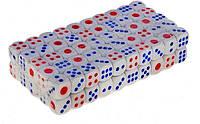 Кубик игральный белый. В упаковке 100 шт. №16