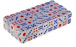 Кубик игральный белый (зарик). В упаковке 100 шт. №16
