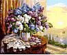 Раскраски для взрослых 50×65 см. Сирень на окне